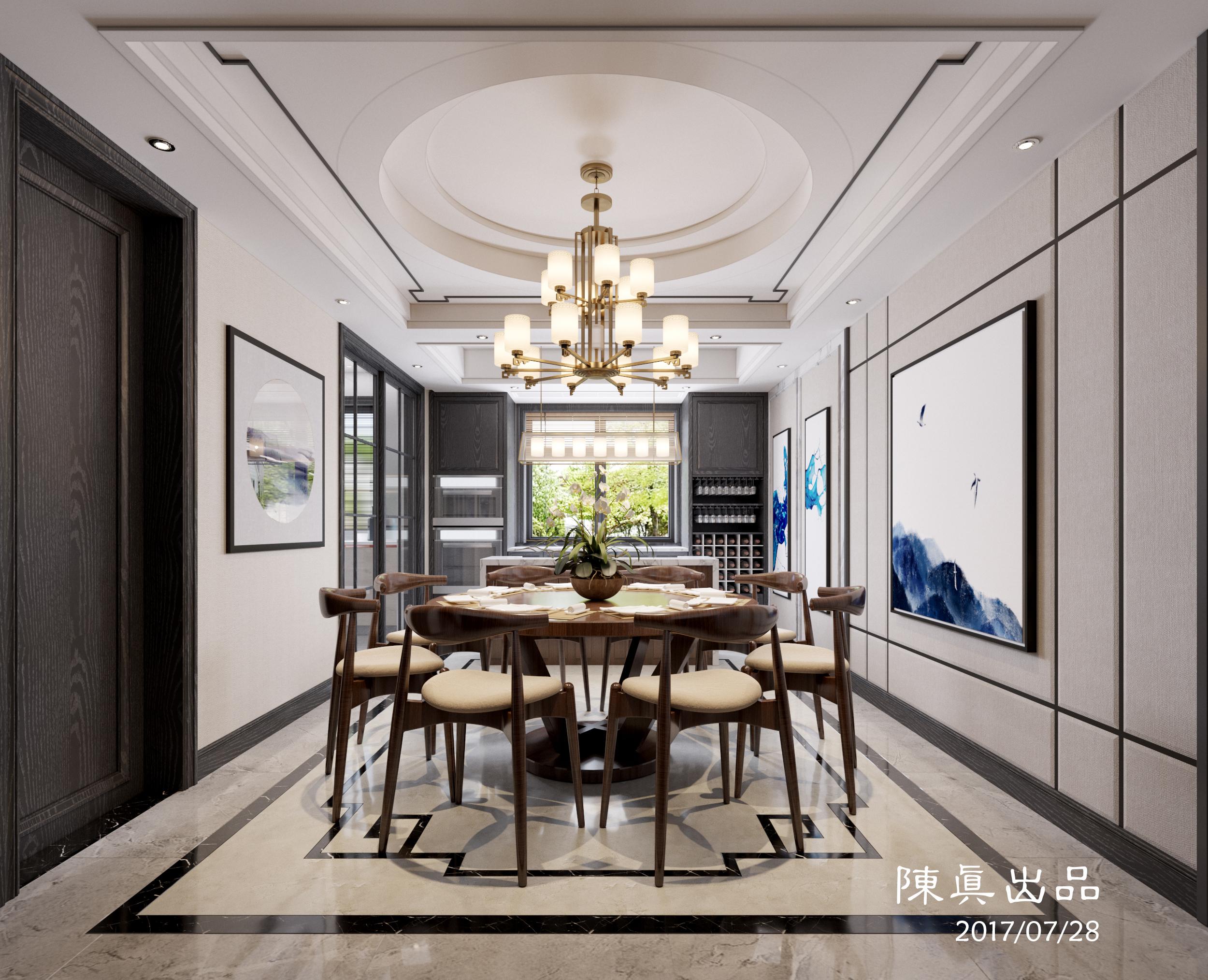 金色家园/排屋/新中式 - 皇嘉装饰 - 装修效果图